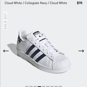 Adidas Superstar Shoes Sneakers White Navy Camo